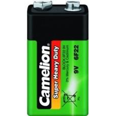 Батарейки Крона солевая Camelion (6F22-SP1G, 9В)