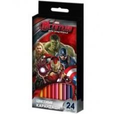 Карандаши цветные Marvel Мстители 24 цв.
