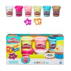 Игровой набор Play-Doh набор из 6 баночек с конфетти 336г