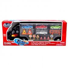 Игрушка грузовик-перевозчик Boley с 4-мя машинками