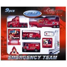 """Игровой набор """"Служба спасения-пожарная команда"""" 9 шт."""