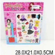 Кукла с одеждой,магнит 1979-08