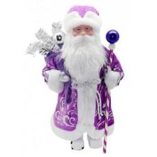 Кукла Дед Мороз 43см под Елку ,фиолетовый