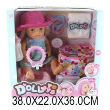 Кукла функц-я 40см,пьет,писает,с аксессуарами LD9810B