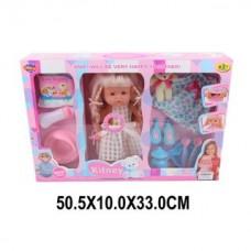 Кукла 36 см Кэтти в наборе 11 аксесс., звук, пьет, писае, кор.