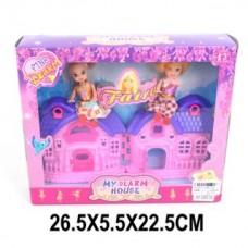 Домик с набором кукол, кор.