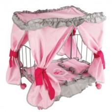 """Кровать для кукол с балдахином """"Корона"""" 47*31*53см"""