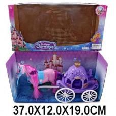 Карета сиреневая с лошадкой 686-705