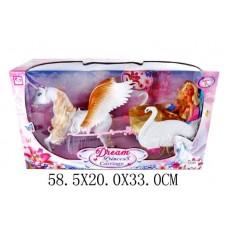 Карета Лебеди с лошадью и куклой К887-21