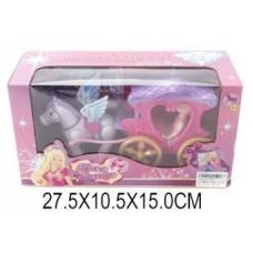Карета сказочная с куклой 9 см 8617