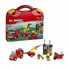 Игрушка Джуниорс Чемоданчик Пожарная Команда LEGO