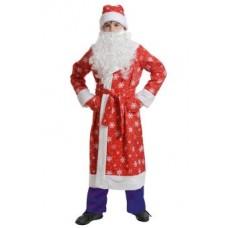 Костюм Дед Мороз детский красный размер М