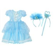 Костюм Зимняя принцесса 65см голуб., ободок, палочка