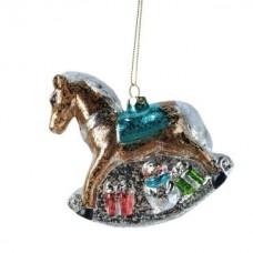 Елочное украшение Лошадь 11см, пластик 972877