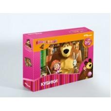 Кубики Маша и Медведь 12шт