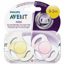Phillips-Avent SCF151/02 Пустышка силиконовая мини для девочки, 0-2 мес. (2шт)