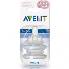 Phillips-Avent SCF635/27 Соска силиконовая переменный поток (2шт)