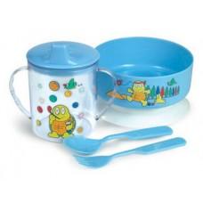 Набор посуды (тарелочка, кружка 250мл. ложка, вилка)