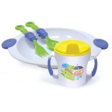 """Набор посуды (тарелка, кружка 225мл. ложка, вилка) """"Сказка"""" 2815"""
