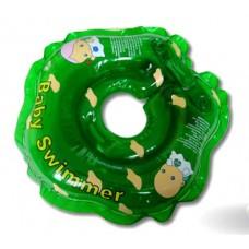 Круг для купания Baby Swimmer с погремушкой BS21G зелёный