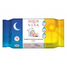 """Детские влажные салфетки Zala """"Aqua Viva"""" с алоэ вера 72 шт"""