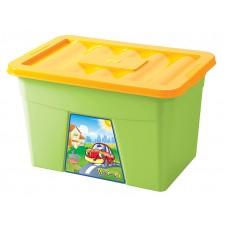 Ящик для игрушек с апплик на колесах 600*400*360