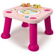 Столик развивающий розовый. звук