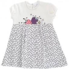 Боди-платье для девочки Ягодки Мамуляндия (Интерлок, разм. 86, молочн./серый)