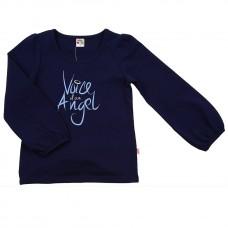 """Блузка с принтом """"Angel"""" (98-122см) разм.116 синий UD 0539"""