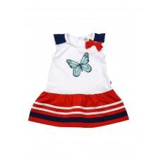 Платье (92-116) размер 104 Белый/Красный UD 2808 (PLLD 005)