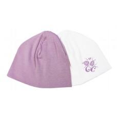 Комплект из 2-х шапок 17-4019 Ноктюрн Мамуляндия (Интерлок разм. 52 молочно/розовый)