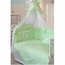 """Комплект в кроватку """"Сабина"""" 7пр. зеленый"""