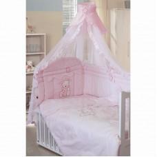 """Комплект в кроватку """"Сабина"""" 7пр. розовый"""