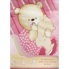 Комплект Постельного Белья Мишутка розовый