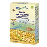 Каша Органик кукурузная с пребиотиками 5 мес. 175г Флёр Альпин
