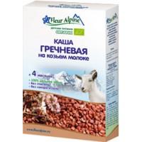 Каша Органик гречневая на козьем молоке 4 мес. 175г Флёр Альпин