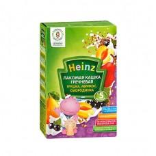 Хайнц- кашка мол.лакомая гречневая грушка, абрикос, смородинка, 5 мес., 250г