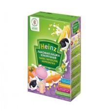 Хайнц- кашка молочная лакомая кукурузная тыква, чернослив, морковка, 5 мес., 250г