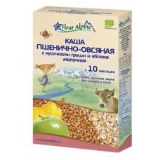 Каша Органик молочная пшенично-овсяная с кусоч. грушии яблока 10 мес. 175г Флёр Альпин