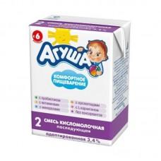 """Смесь кисломолочная №2 """"Агуша """" 3,4% 204 мл"""