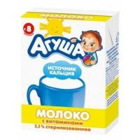 """Молоко """"Агуша"""" Витаминизированное 2,5% 200гр"""