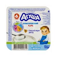 """Творог """"Агуша"""" классический 4,5% 100г"""