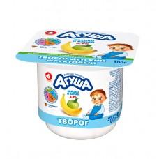 """Творог фруктовый """"Агуша"""" Яблоко-банан 3,9% 100г"""