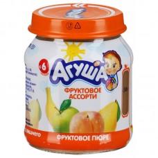 """Пюре фруктовое """"Агуша"""" яблоко-груша-банан-персик 115г ст./б"""