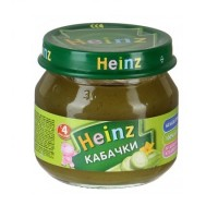 Хайнц - пюре кабачки, 4 мес., 80г