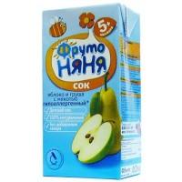 ФрутоНяНя - напиток из яблок и груш с мякотью (тетра пак), 5 мес 200г
