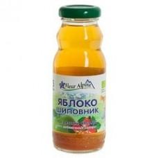 """Сок Органик яблоко-шиповник """"Флёр Альпин """" ( стекло ) 200 г"""