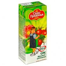 Сады Придонья - сок яблоко-шиповник (тетра пак), 6мес, 200
