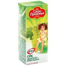 Сады Придонья - сок яблочно-виноградный (тетра пак), 6мес, 200