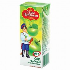 Сады Придонья - сок  из зел. яблок освет. (тетра пак), 3 мес, 200г